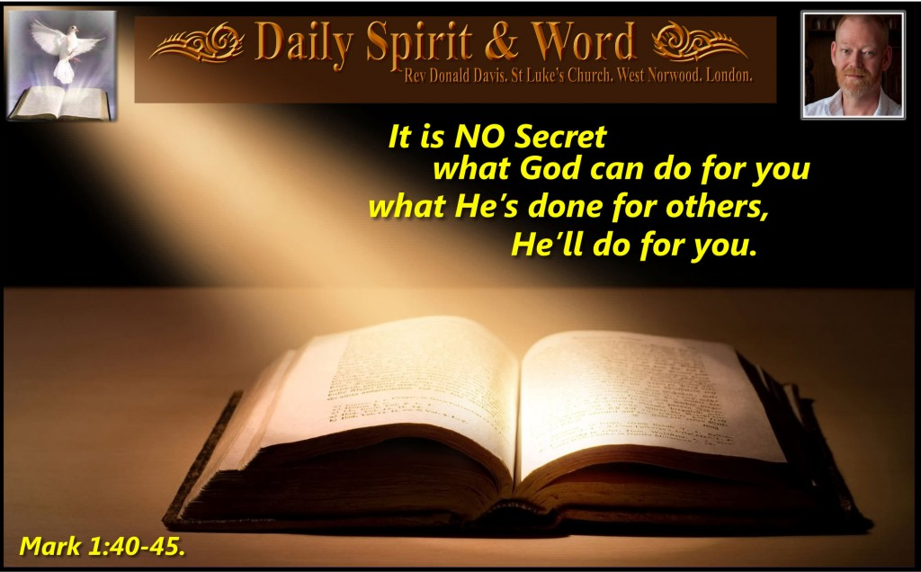It is NO SECRET what God can do for you.