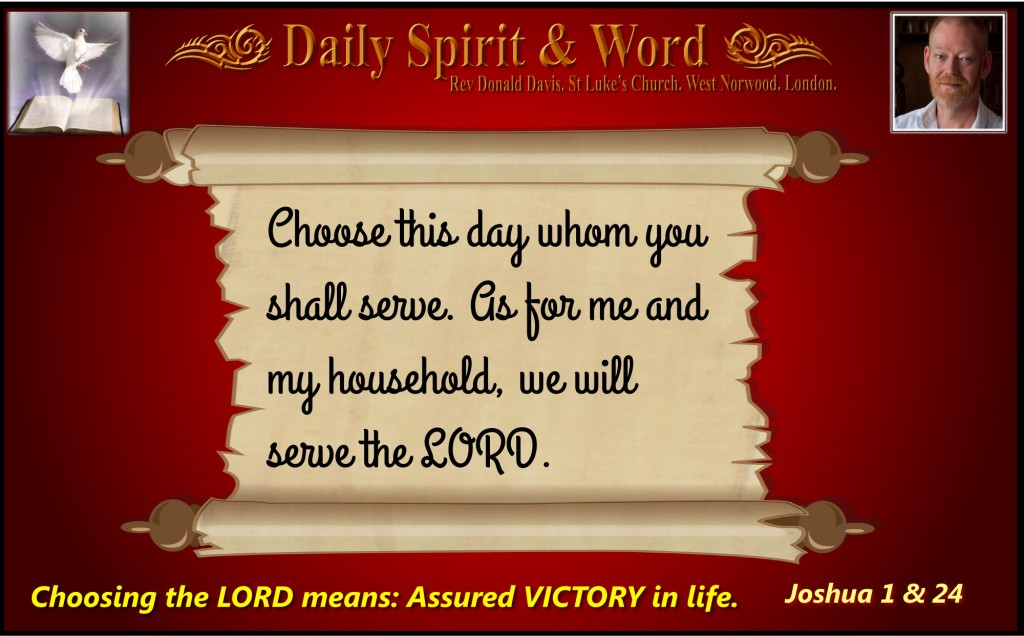 Choose this day whom you shall serve