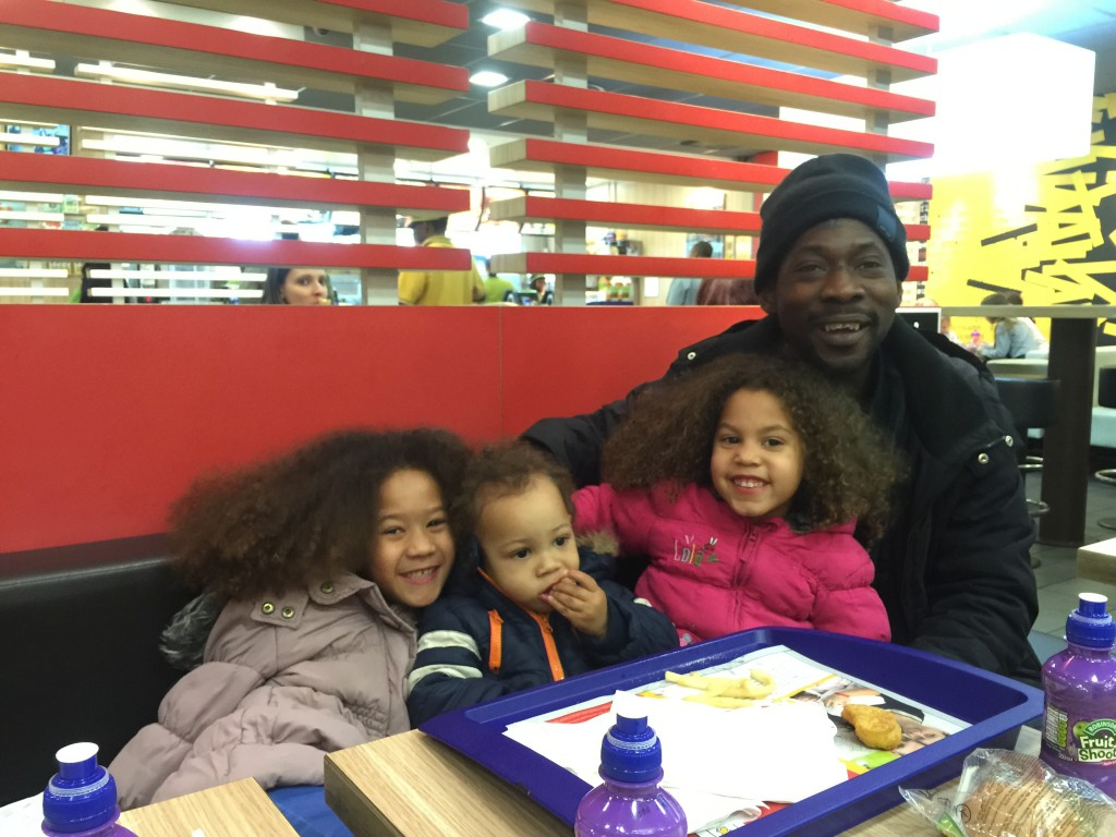 Grandchildren at McDonalds Purley Way