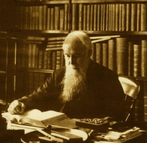 J C Ryle in his study