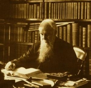 J C Ryle in his study