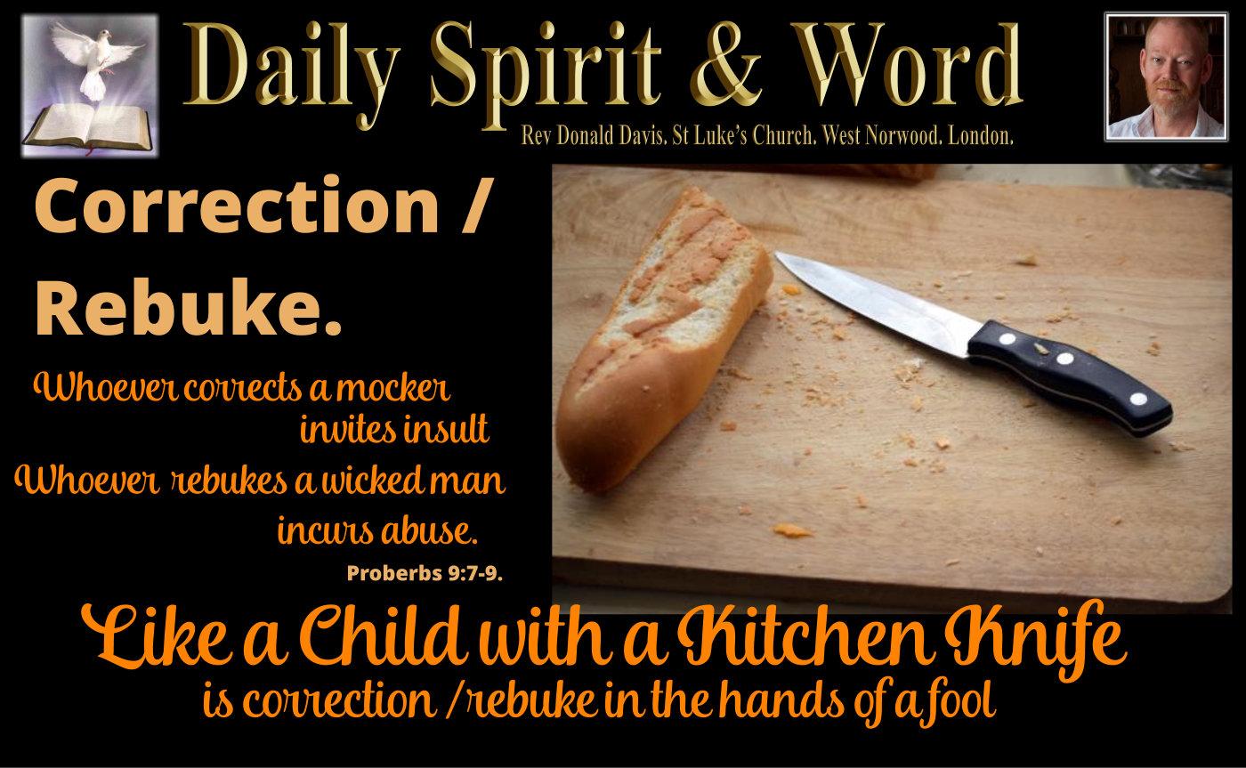 Rebuke a wicked person