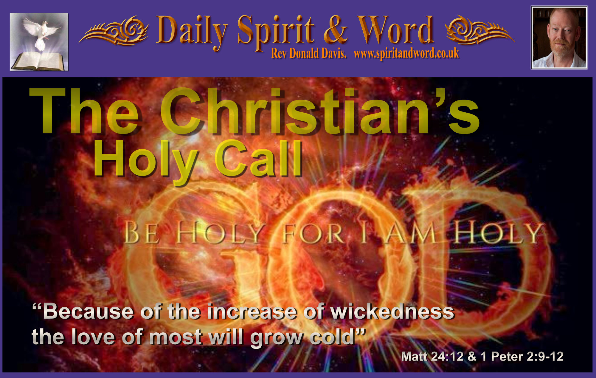 The Christians's Call To Holiness