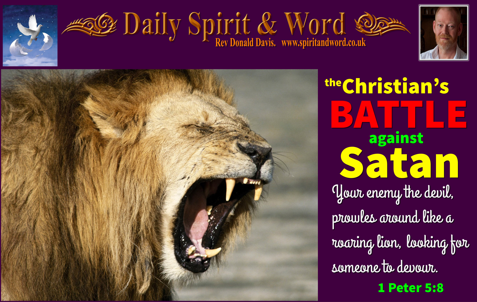 fighting against your enemies, the Devil, Satan, Christian