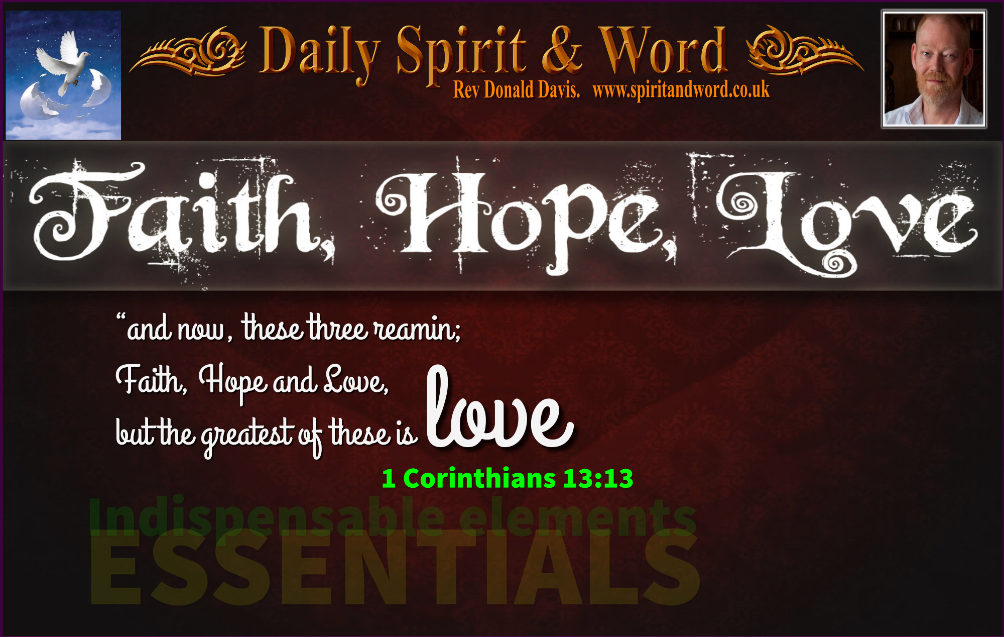 Discipleship, Faith, Hope and Love.
