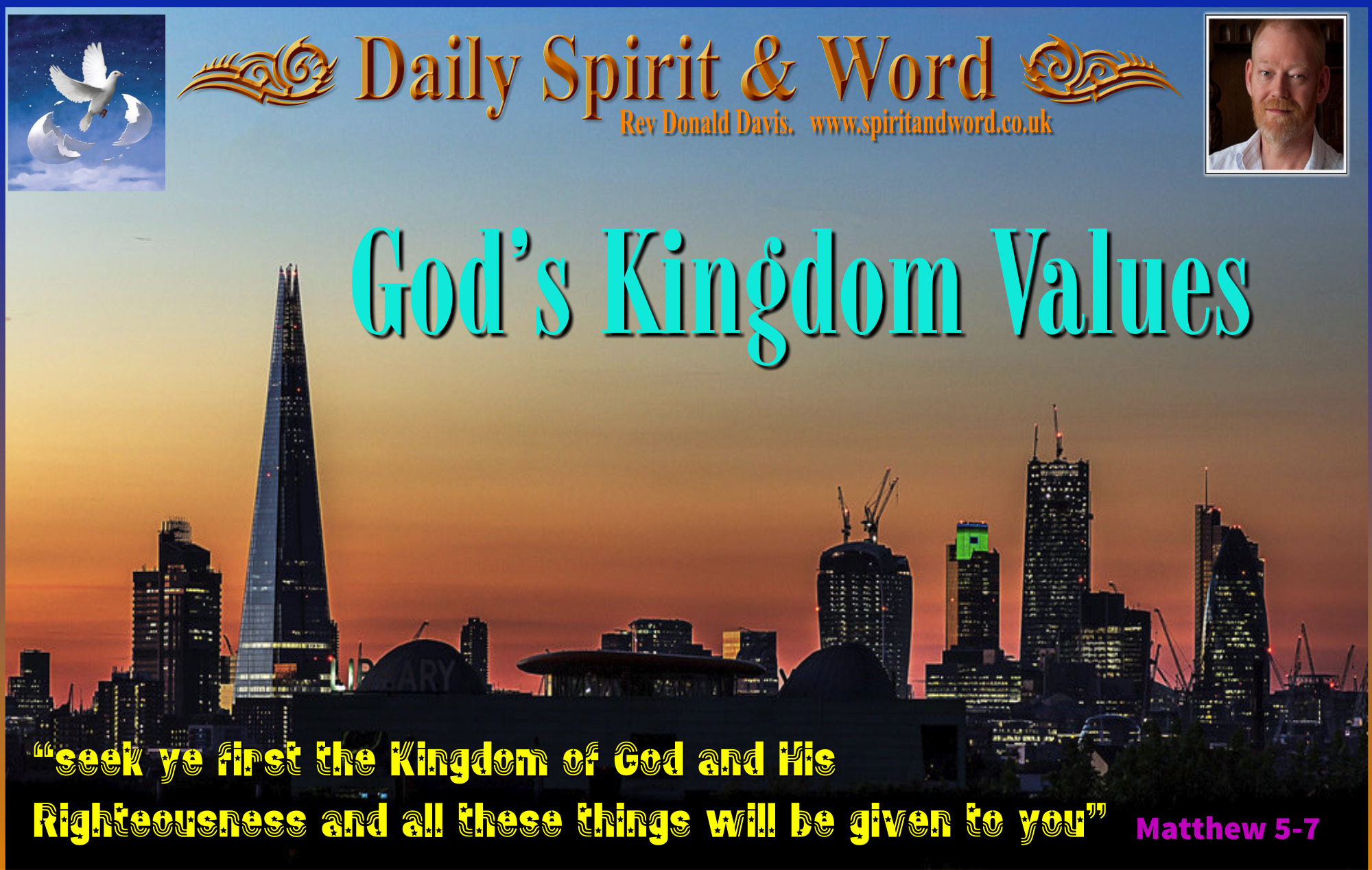 Seek ye first the Kingdom of God and His righteousness