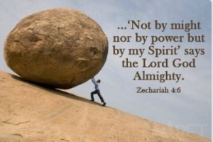not might, not strength, but by Holy Spirit
