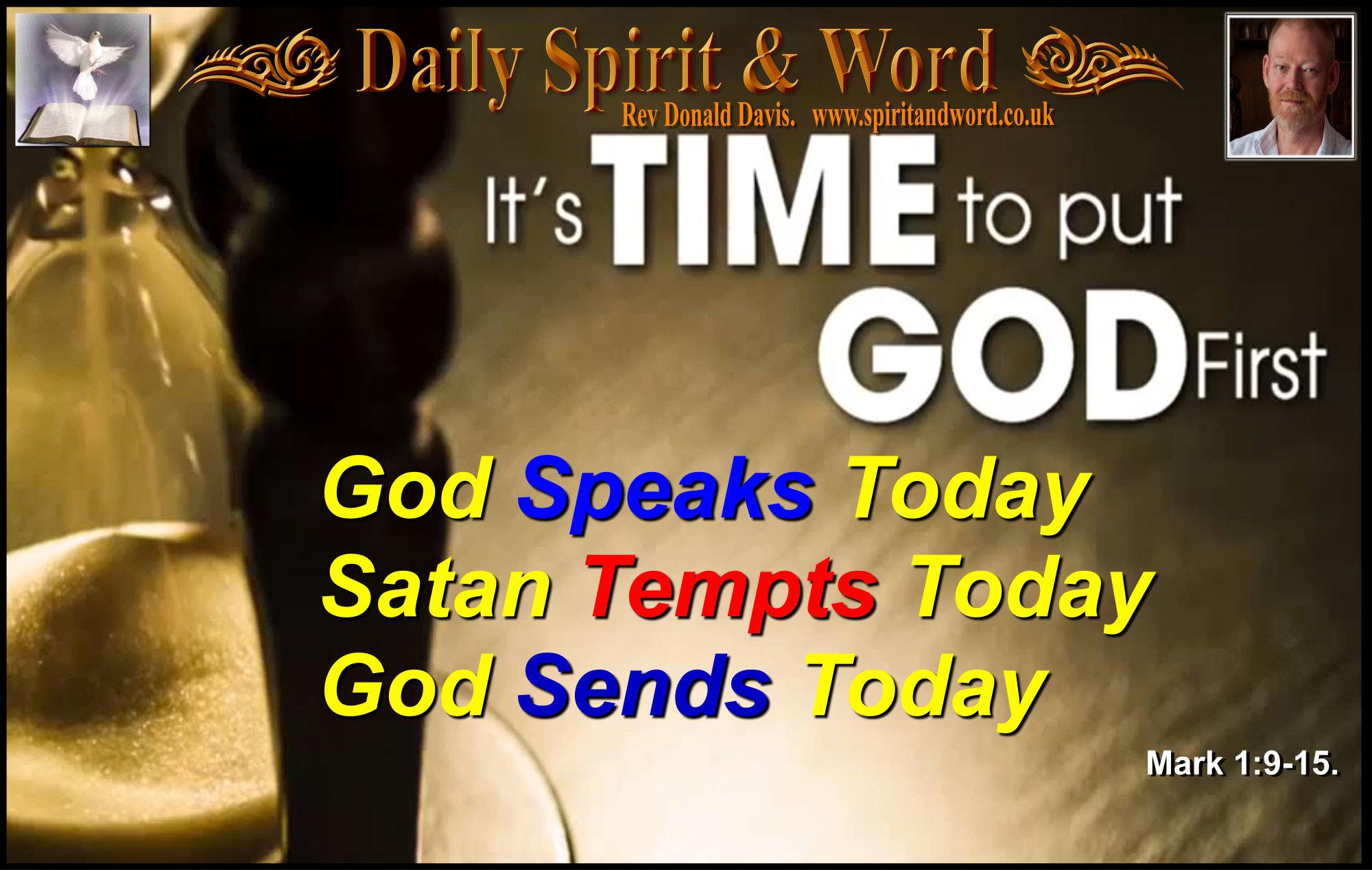 God calls, Satan Tempts, Jesus Preaches,