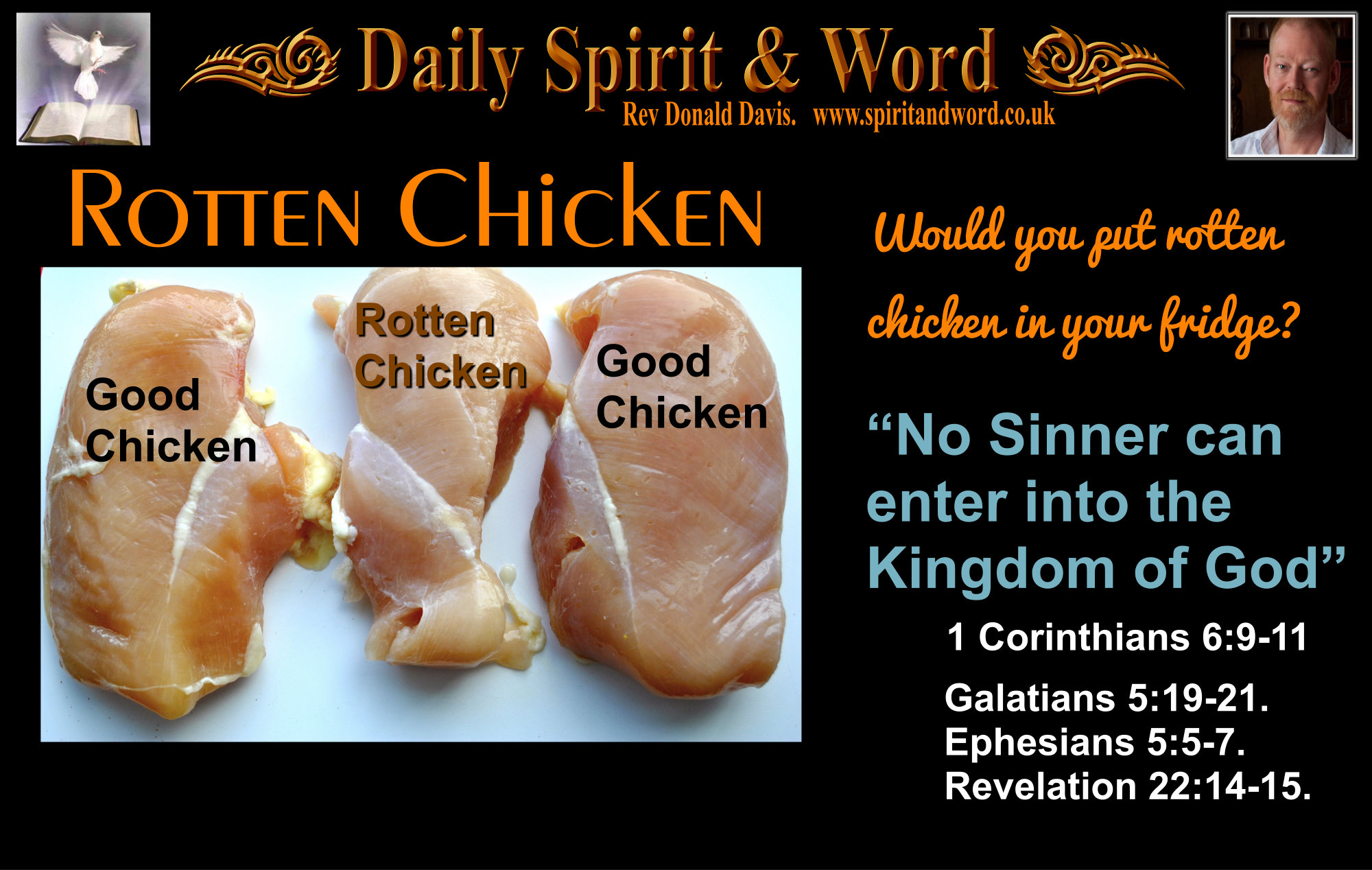 What would you do with rotten chicken?
