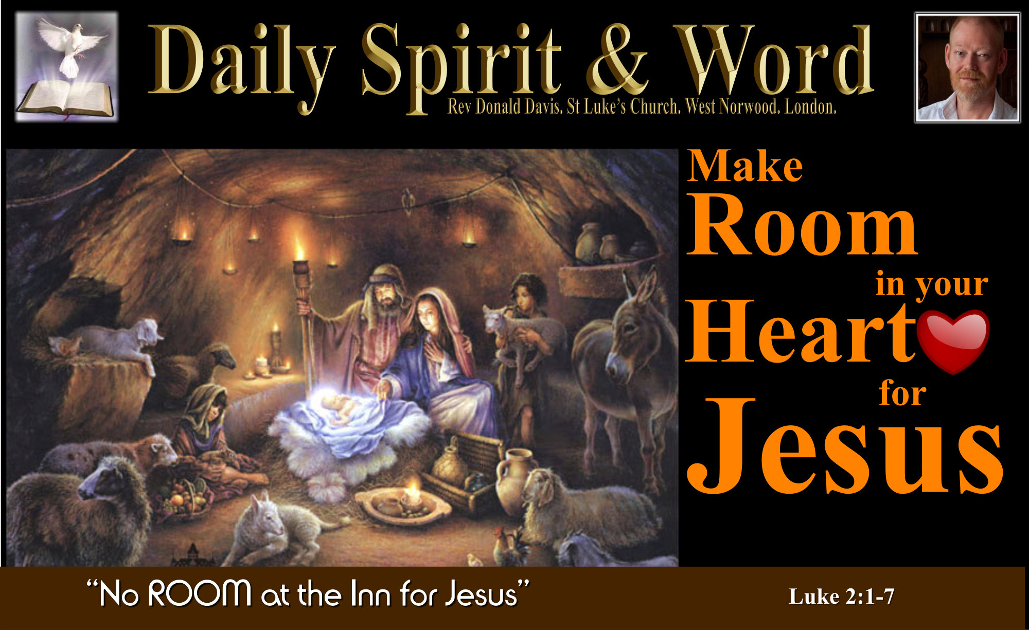 Make Room In Your Heart For Jesus This Christmas – Daily Spirit and Word