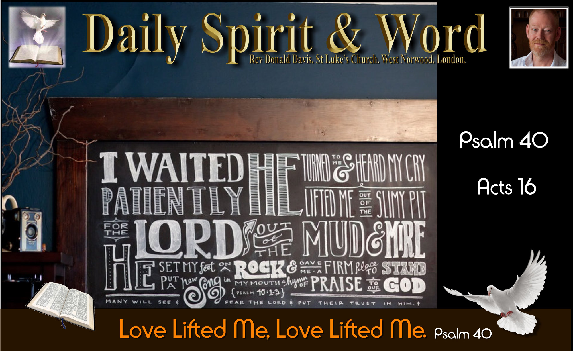 Love lifted me, rock, feet, firm place, stand, set free, freedom, rescue,