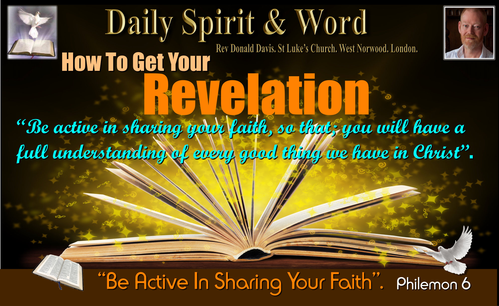 Be active in sharing your faith