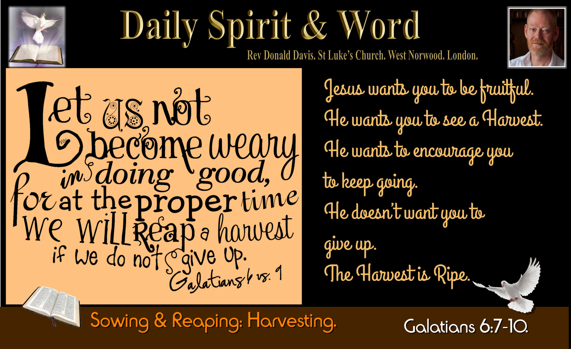Sowing and Reaping, God cannot be mocked