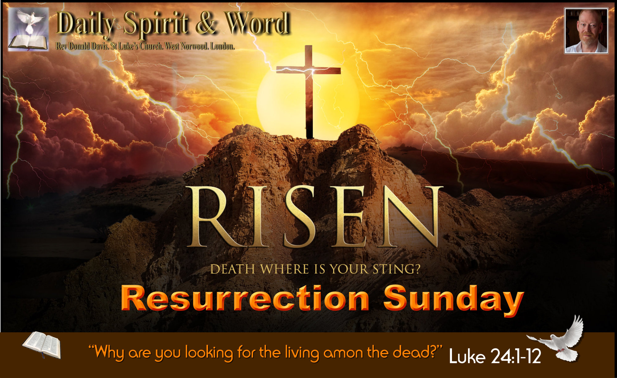 Why are you looking for the living among the dead, He is not here, He is risen