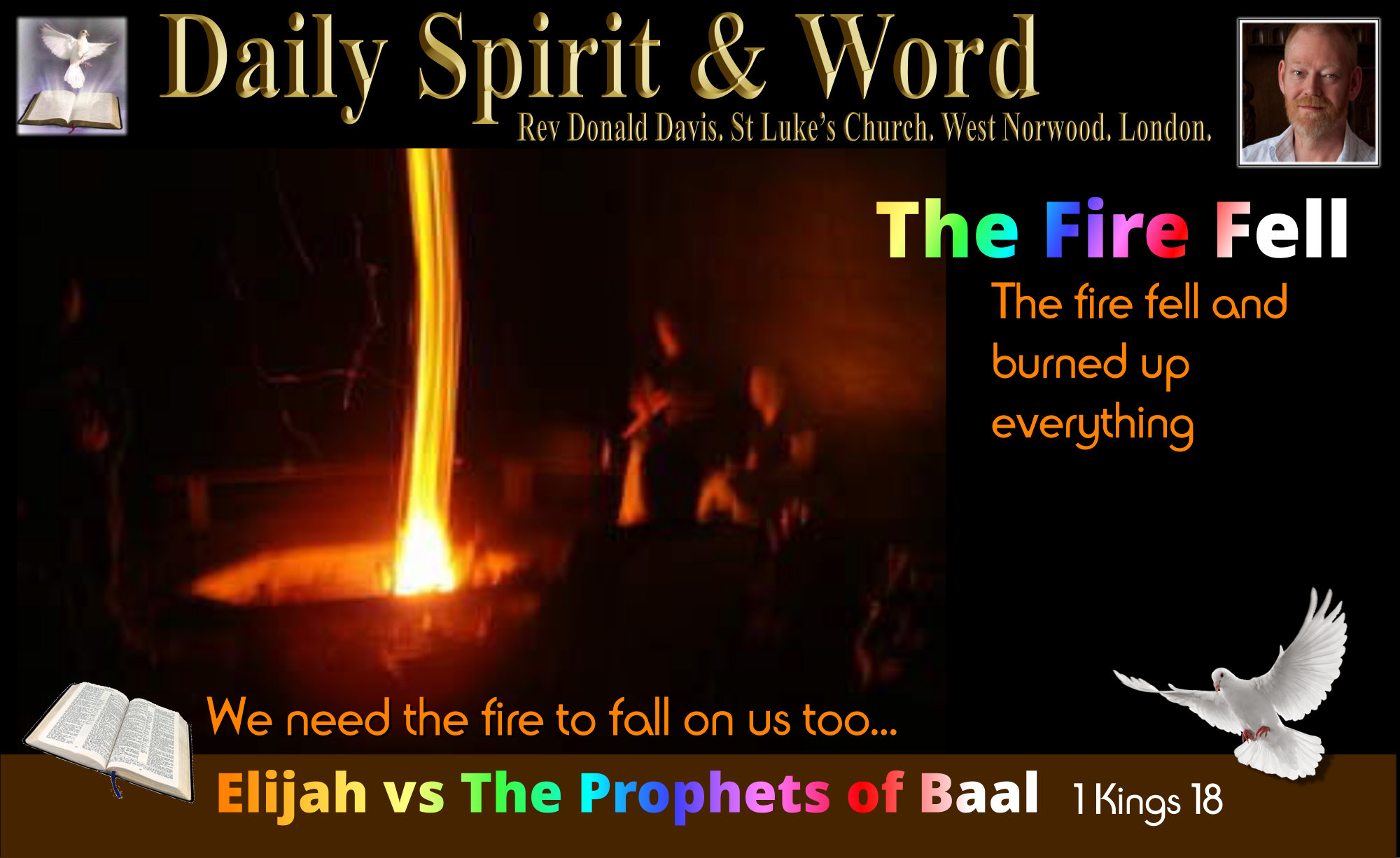 Elijah and the Prophets of Baal, the fire fell
