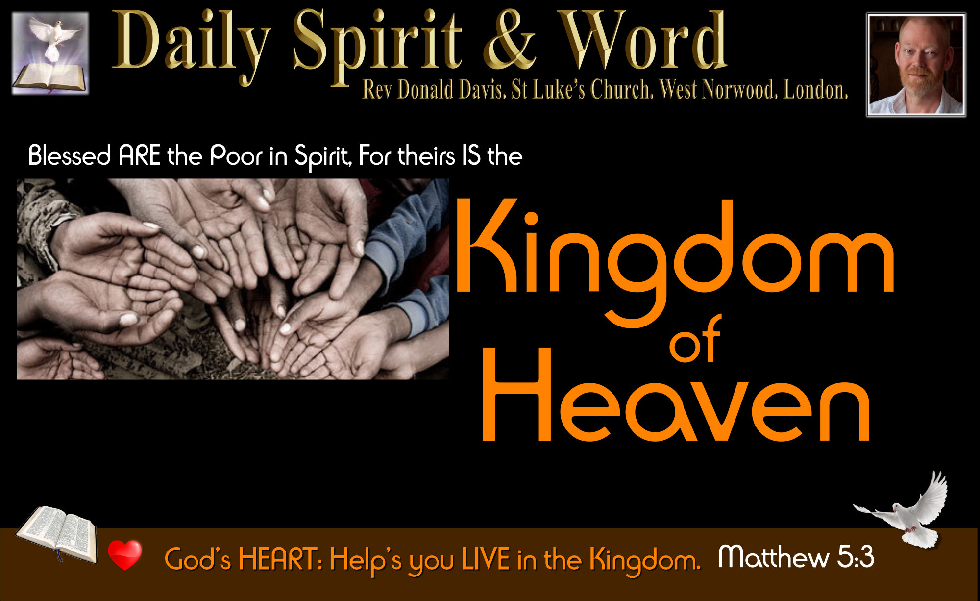 recognising our Spiritual Poverty is Key to the Kingdom of Heaven.