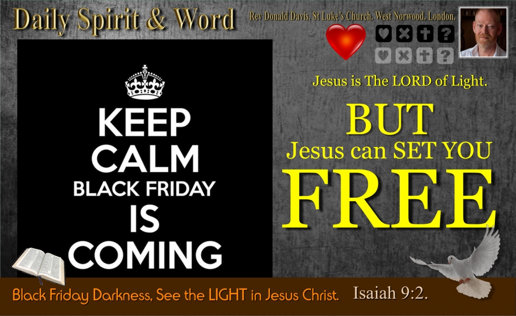 How Jesus can set your free on Black Friday