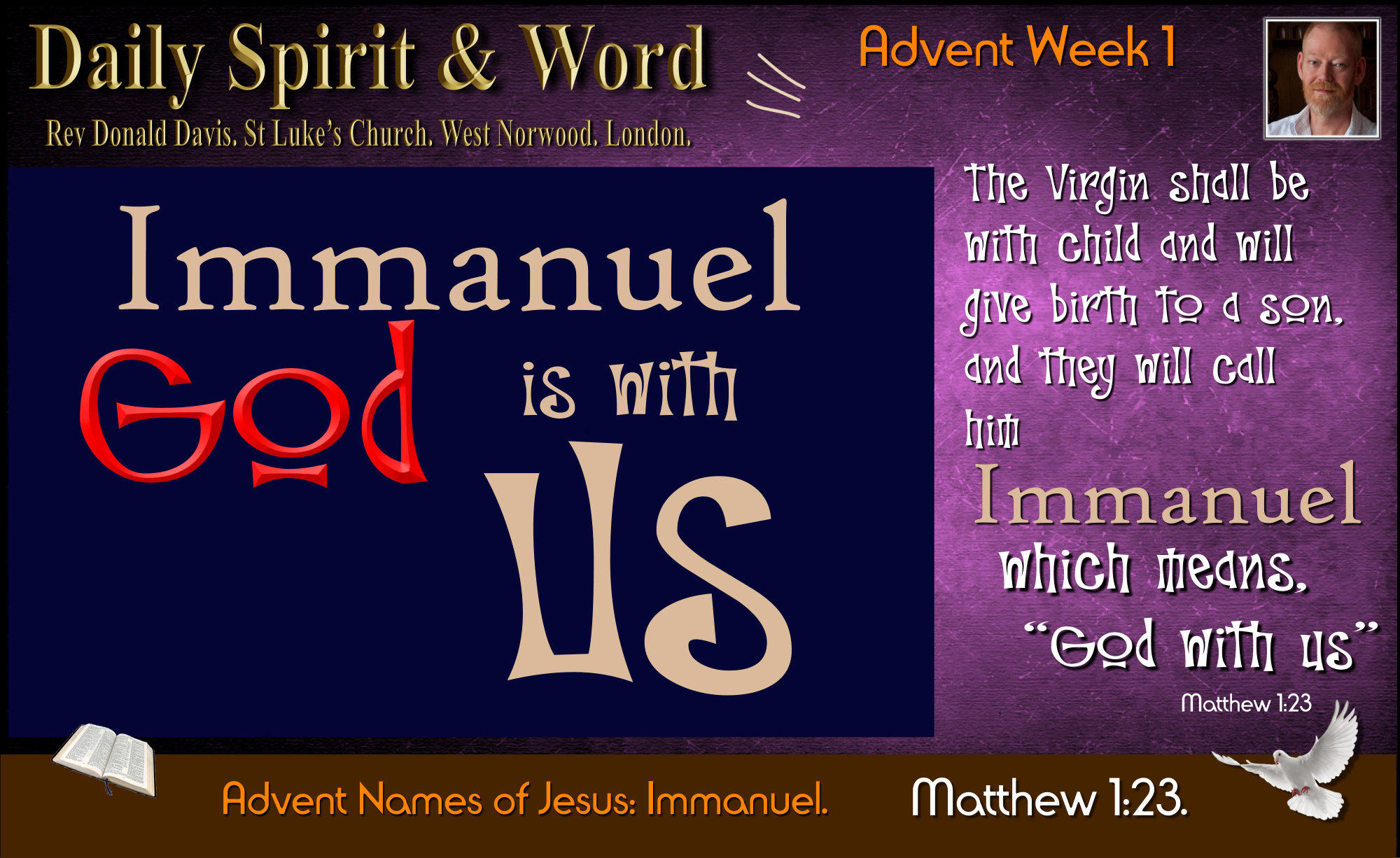 Immanuel, Emmanuel, How to know that God is With Us.